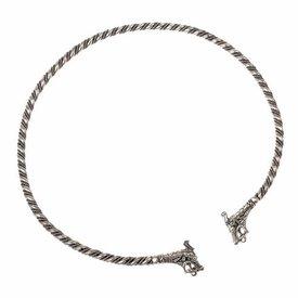 Viking torque Haithabu, silvered