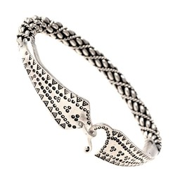 Viking bracelet Malvik silvered