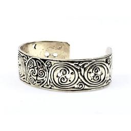 Celtic armbånd med trisquelion, forsølvede