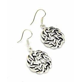 Celtic earrings knot, silvered