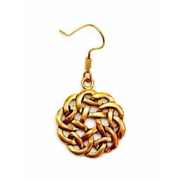 Keltische ohrringe Knoten, Bronze