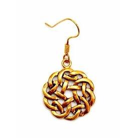 Keltische oorbellen knoop, brons