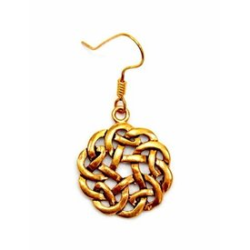 Keltiske øreringe knude, bronze