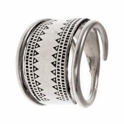 Viking ring Baltic silvered