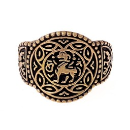 Saxon ring Aethelswith bronze