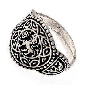 Saksische ring Aethelswith verzilverd
