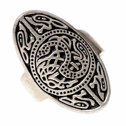 anillo plateado Saxon Trewhiddle