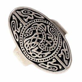 Saxon Ring Trewhiddle versilbert