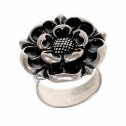 Pierścień Tudor, posrebrzane