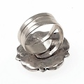 Tudor ring, silvered
