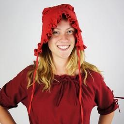 17th-18th century cap Annique red