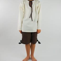 Boy's three quarter trousers dark brown