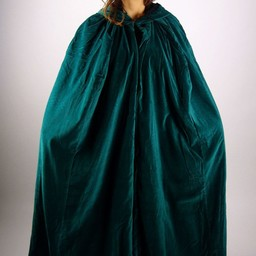 Velvet cloak Ilja green
