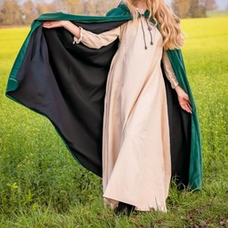 Velvet cloak Lily green