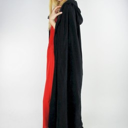 Fluwelen mantel Lily zwart