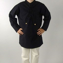 Camisa niño negra tejida a mano