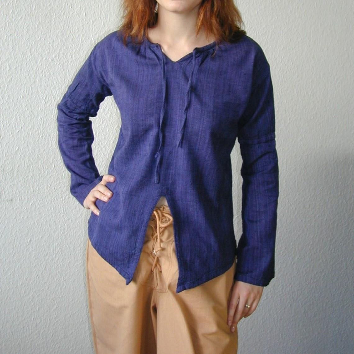 Leonardo Carbone Hemd Jane blauw