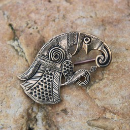 Germanic raven brooch Gotland, left, bronze