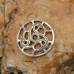 Trisquelion amuleto Vendel stile, bronzo
