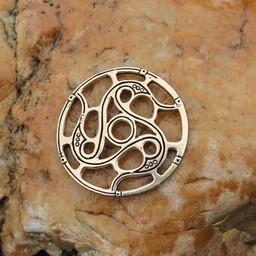 Trisquelion Amulett Vendel Stil, Bronze