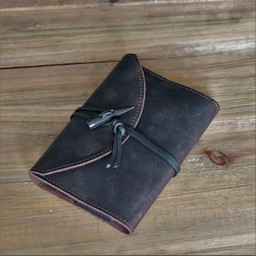 Cuaderno con tapa de cuero, marrón, M