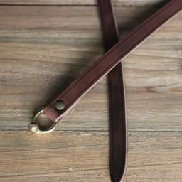 Celtic La Tene bälte med bälteskrok, brun