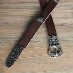 Cintura Birka deluxe, marrone, ottone