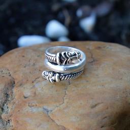Luxuriöse Island Viking Ring, versilbert
