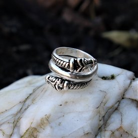 Luxurious Iceland Viking ring, silvered