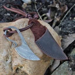 Germański szyi nóż Damast stal