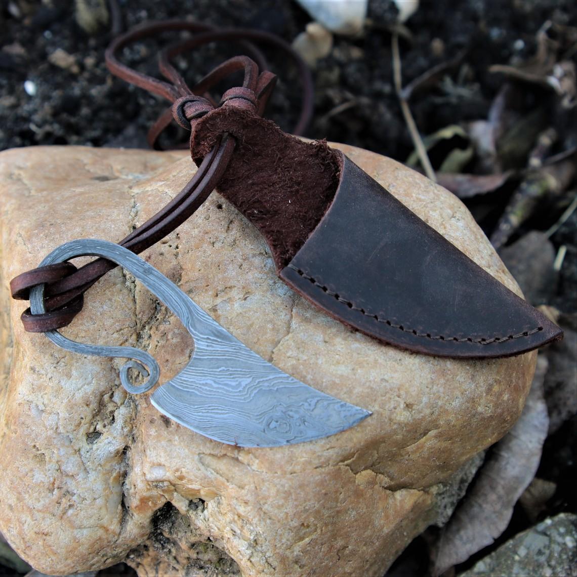 acciaio coltello damast collo germanica