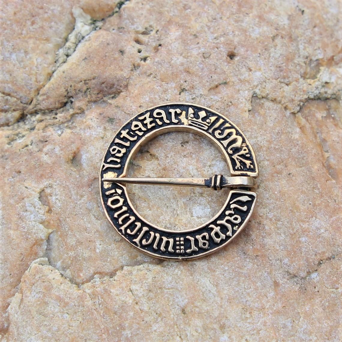 Mittelalterliche Ring Brosche, Bronze