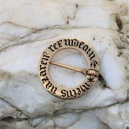 Medieval ring brooch, bronze