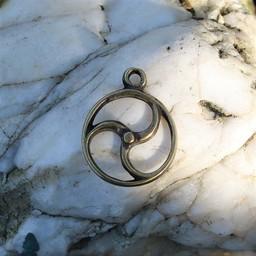 Celtic słońce amulet, brąz