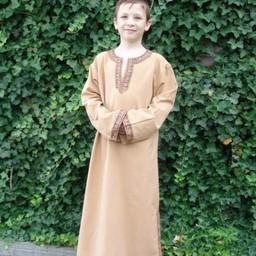 Celtic boy's tunic Finn honey brown