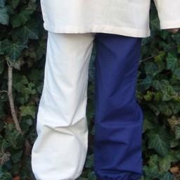 Spodnie dziecięce Edmund niebiesko-białe