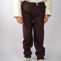 Spodnie dziecięce Edmund brązowe