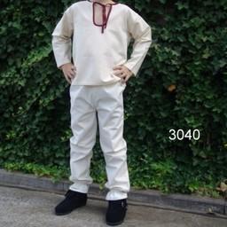 Spodnie dziecięce Edmund białe
