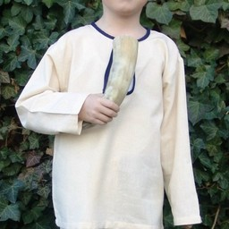 Camisa niño Peter blanco-azul
