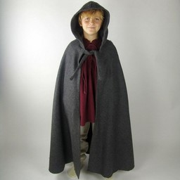 Płaszcz dziecięcy z kapturem w kolorze szarym