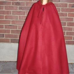 Capa infantil con capucha rojo