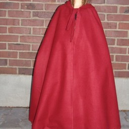 Children's cloak with hood red