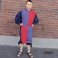 Leonardo Carbone Kinderoverkleed mi-parti blauw-rood