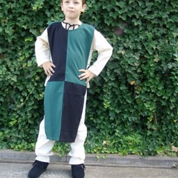 Children's surcoat mi-parti green-black