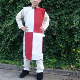 Surkot dziecięcy mi-parti biało-czerwony