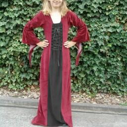 Pigekjole Aline rød-sort