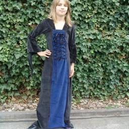 Sukienka dla dziewczynki Aline czarno-niebieska