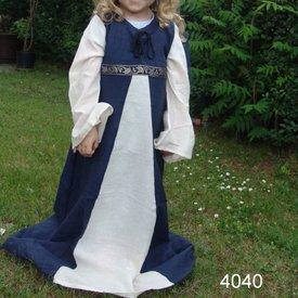 Leonardo Carbone Meisjesjurk Ariane blauw-wit