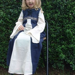 Pigekjole Ariane blå-hvid