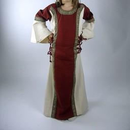 Sukienka dziewczęca Cleena czerwono-biała